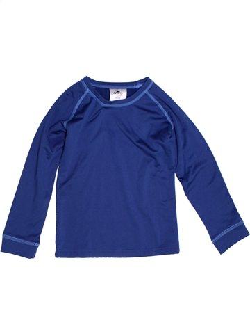 T-shirt manches longues garçon CRANE bleu 6 ans hiver #1229791_1