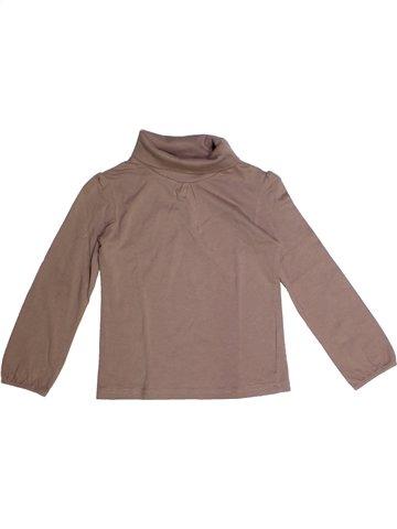 T-shirt col roulé fille 3 SUISSES marron 6 ans hiver #1232662_1