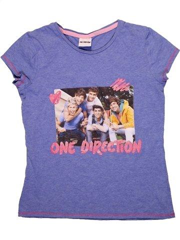 T-shirt manches courtes fille ONE DIRECTION violet 11 ans été #1236716_1