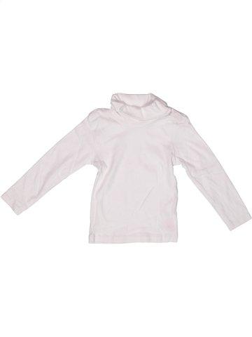 T-shirt col roulé garçon DOMYOS blanc 3 ans hiver #1237288_1