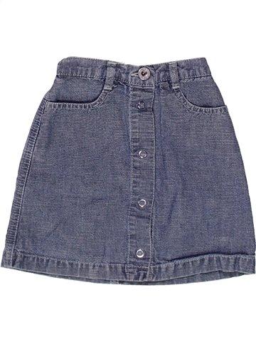 Falda niña PETIT BATEAU azul 3 años verano #1237699_1