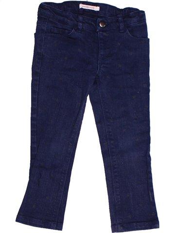 Pantalon fille MONOPRIX bleu 3 ans hiver #1238111_1