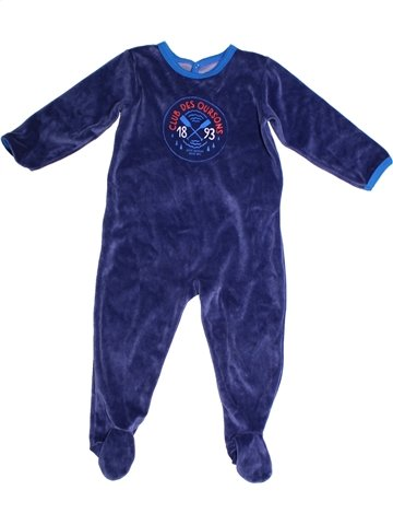 Pyjama 1 pièce garçon PETIT BATEAU bleu 2 ans hiver #1239566_1