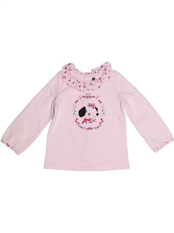T-shirt manches longues fille SERGENT MAJOR rose 2 ans hiver #1239767_1