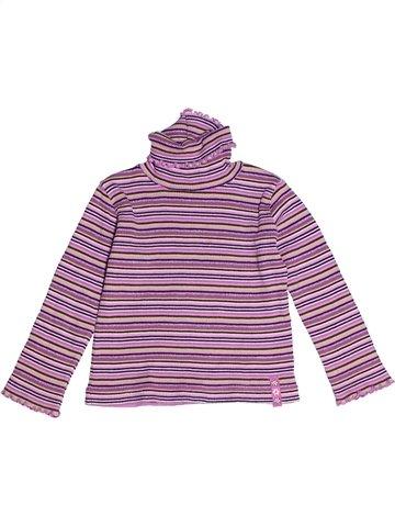T-shirt col roulé fille SMILY violet 3 ans hiver #1240917_1