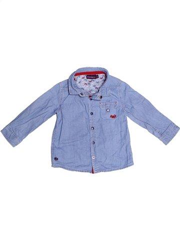 Chemise manches longues garçon SERGENT MAJOR bleu 18 mois hiver #1242926_1