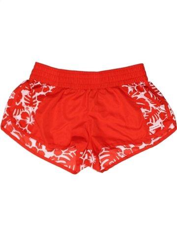 Short de sport fille OCEAN PACIFIC rouge 10 ans été #1243034_1
