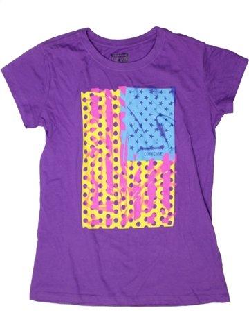 T-shirt manches courtes fille CONVERSE violet 13 ans été #1243418_1