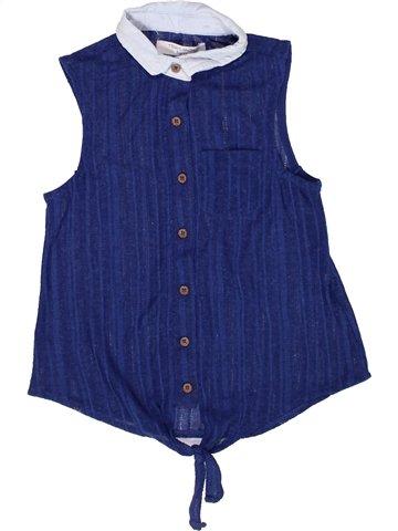 Blouse manches courtes fille TEDDY SMITH bleu 10 ans été #1244835_1