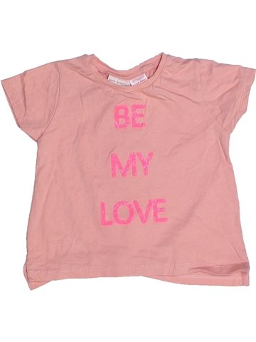 T-shirt manches courtes fille ZARA rose 6 mois été #1245731_1