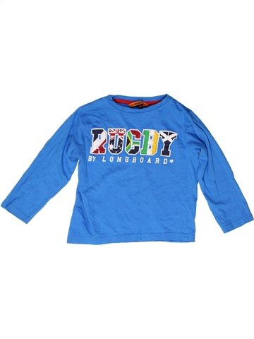 T-shirt manches longues garçon LONGBOARD bleu 4 ans hiver #1249607_1