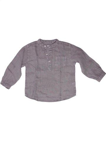 Camisa de manga larga niño BOUT'CHOU gris 2 años verano #1250024_1