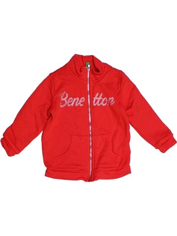 Sweat fille BENETTON rouge 2 ans hiver #1250580_1