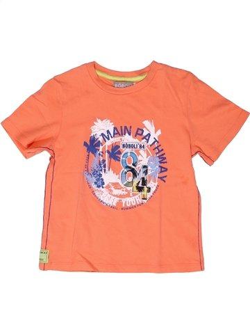 T-shirt manches courtes garçon BOBOLI rose 5 ans été #1251174_1