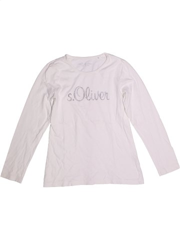 T-shirt manches longues fille S OLIVER blanc 12 ans hiver #1251412_1