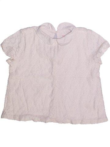 Blusa de manga corta niña MONOPRIX blanco 5 años verano #1252184_1