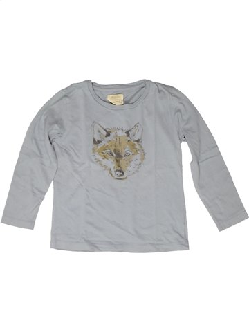 T-shirt manches longues garçon MONOPRIX gris 6 ans hiver #1252540_1