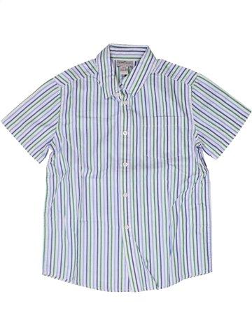 Chemise manches courtes garçon CYRILLUS blanc 8 ans été #1252580_1