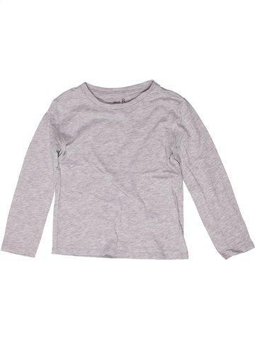 T-shirt manches longues garçon LA REDOUTE CRÉATION gris 6 ans hiver #1252759_1