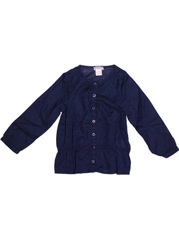 Blusa de manga larga niña CYRILLUS azul 4 años invierno #1253347_1