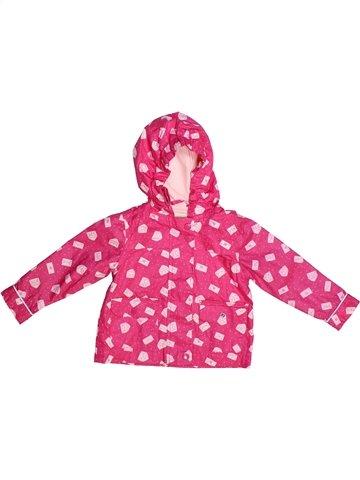 Anorak-Trinchera niña VERTBAUDET rosa 2 años verano #1253610_1