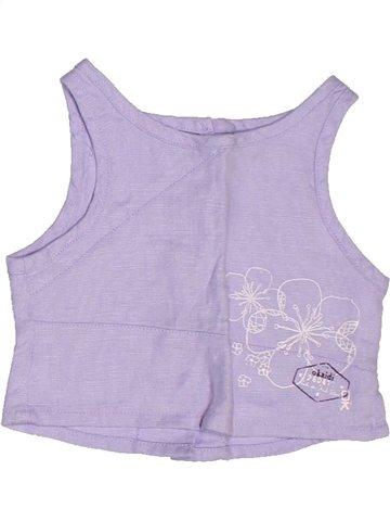 Blouse manches courtes fille OKAIDI violet 2 ans été #1253673_1