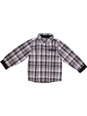 Chemise manches longues garçon KIMBALOO gris 3 ans hiver #1253840_1