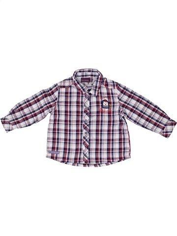 Chemise manches longues garçon SERGENT MAJOR violet 9 mois hiver #1254512_1