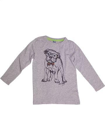 T-shirt manches longues garçon DOPODOPO gris 8 ans hiver #1257967_1