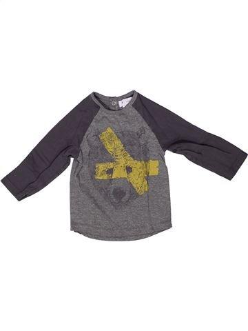 T-shirt manches longues garçon LA REDOUTE CRÉATION gris 2 ans hiver #1258206_1