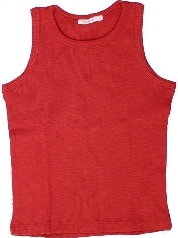T-shirt sans manches fille MONOPRIX rouge 6 ans été #1258297_1