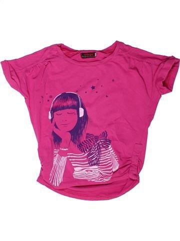 T-shirt manches courtes fille CATIMINI violet 6 ans été #1258542_1