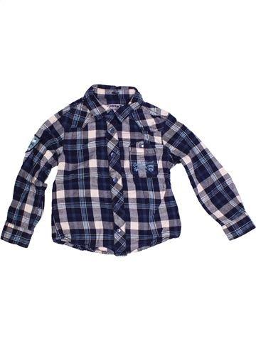 Chemise manches longues garçon CREEKS bleu 3 ans hiver #1260128_1