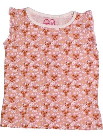 T-shirt sans manches fille LOVE ME rose 3 ans été #1261341_1