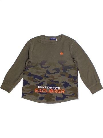 T-shirt manches longues garçon ORIGINAL MARINES gris 4 ans hiver #1262514_1