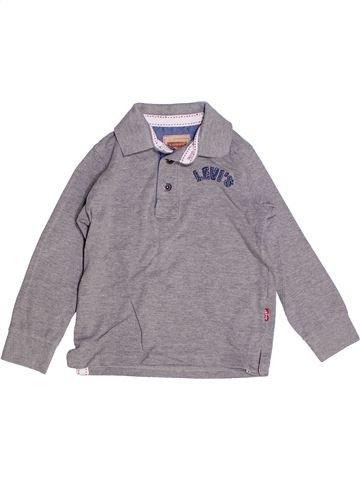 Polo manches longues garçon LEVI'S gris 5 ans hiver #1262515_1