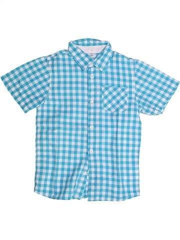 Chemise manches courtes garçon LH BY LA HALLE bleu 8 ans été #1262784_1