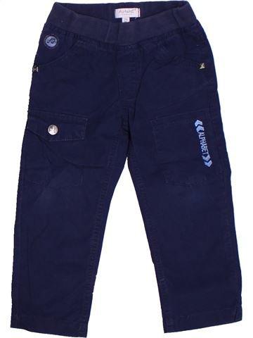 Pantalon garçon ALPHABET bleu 2 ans été #1264174_1