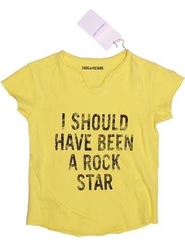 T-shirt manches courtes fille ZADIG ET VOLTAIRE jaune 6 ans été #1264461_1