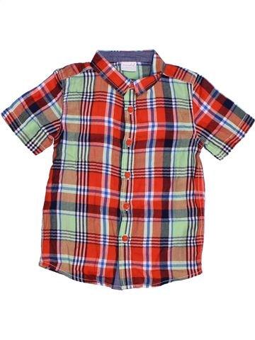 Chemise manches courtes garçon MINI CLUB violet 5 ans été #1265512_1