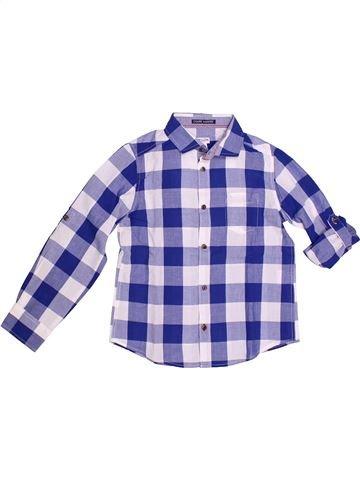 Chemise manches longues garçon CYRILLUS violet 8 ans hiver #1266693_1