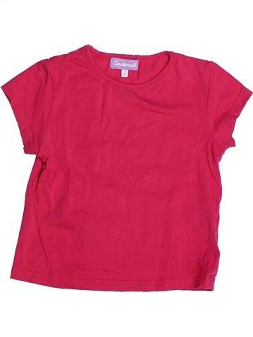 T-shirt manches courtes fille COUDÉMAIL rose 2 ans été #1266917_1