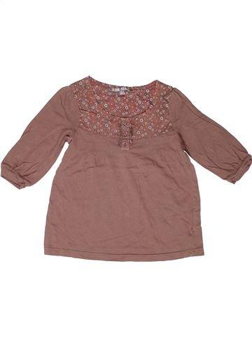 T-shirt manches longues fille VYNIL FRAISE marron 8 ans hiver #1267337_1