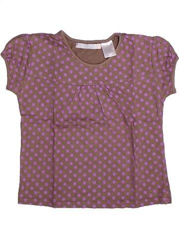 T-shirt manches courtes fille LA REDOUTE CRÉATION violet 6 ans été #1267380_1