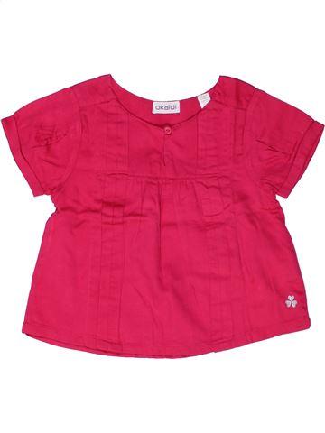 Blusa de manga corta niña OKAIDI rosa 3 años verano #1267531_1