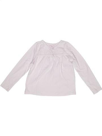 Camiseta de manga larga niña MONOPRIX blanco 6 años invierno #1267939_1