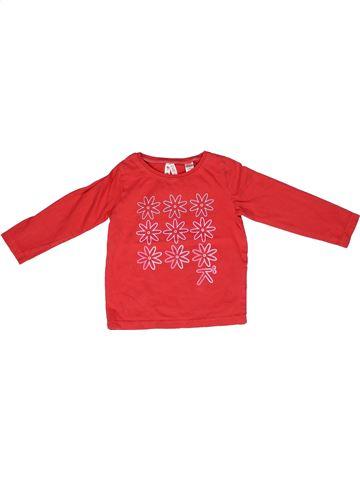 Camiseta de manga larga niña OKAIDI rojo 3 años invierno #1268210_1
