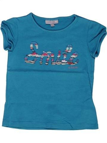T-shirt manches courtes fille JBC bleu 4 ans été #1268318_1