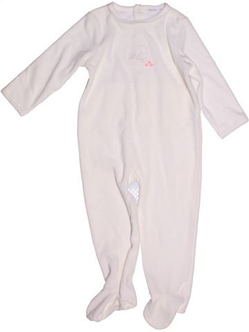 Pijama de 1 pieza niña BOUT'CHOU blanco 2 años invierno #1268744_1