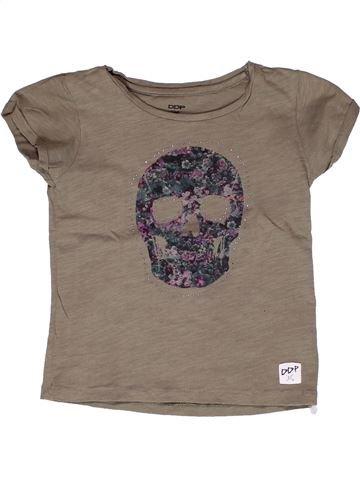T-shirt manches courtes fille DDP marron 8 ans été #1268788_1